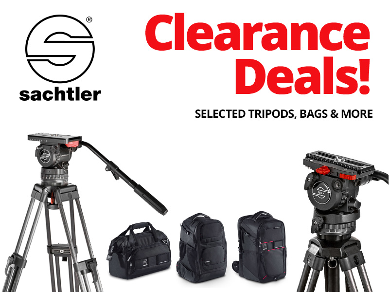 Sachtler Clearance Deals - Up to 50% off RRP on selected products!